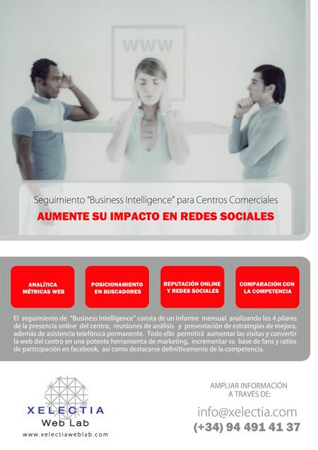 """Seguimiento Presencia Online """"Business Intelligence"""" para Centros Comerciales"""