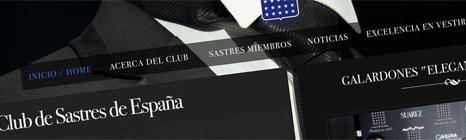 Diseño web del Club de Sastres de España