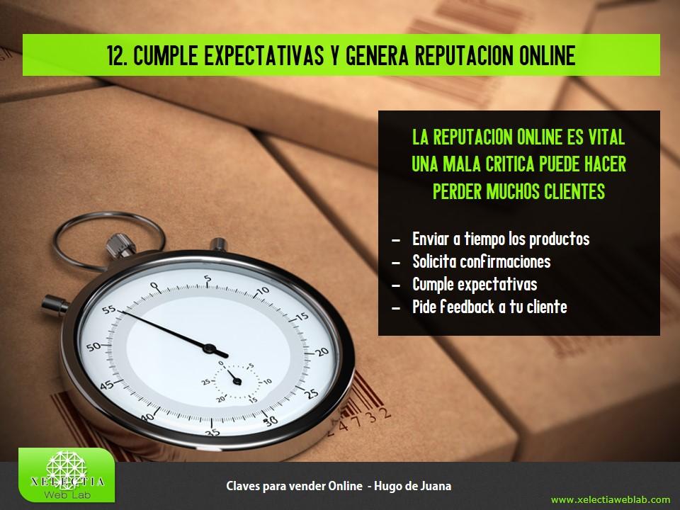 Clave 12 - Cumple expectativas y genera reputación online