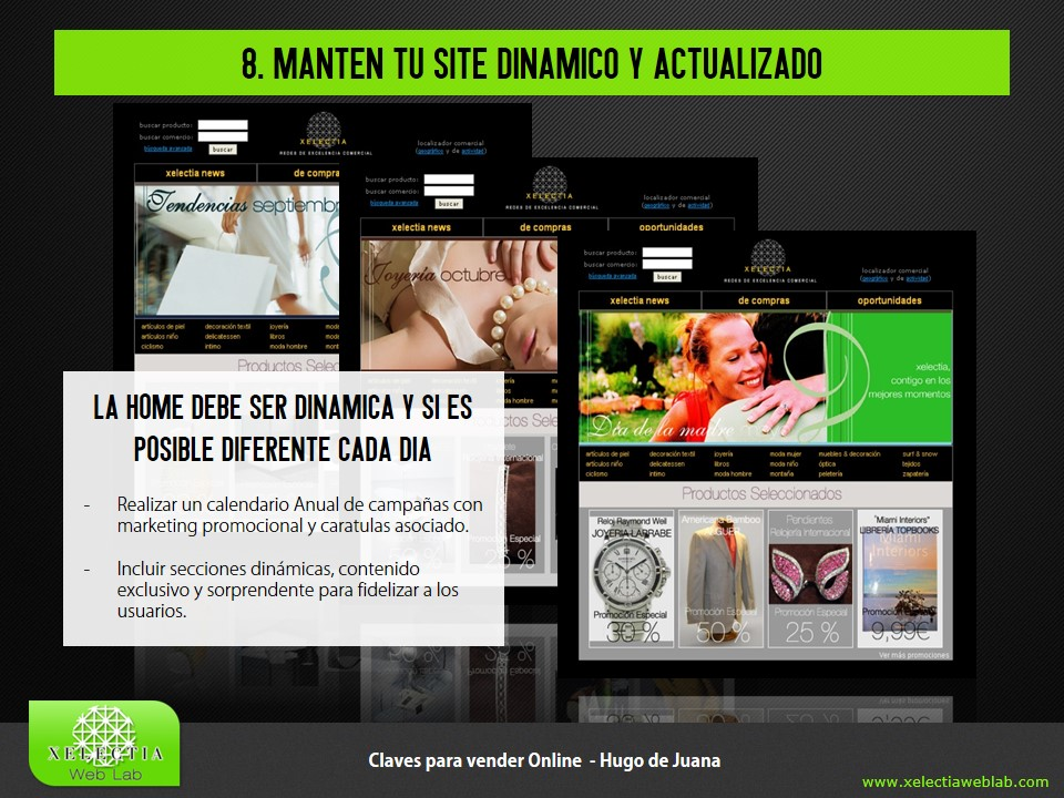 Clave 8 - Manten tu site dinámico y actualizado