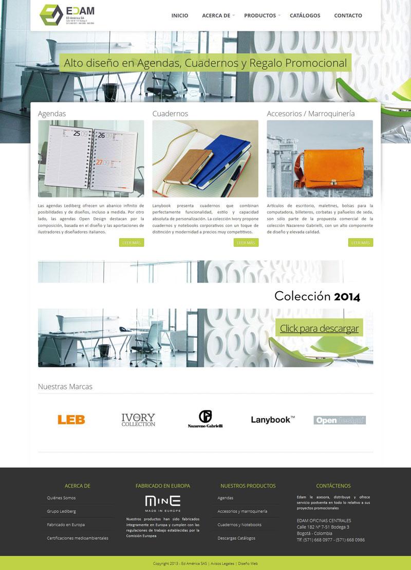 Ediciones America - Diseño de Xelectia Web Lab