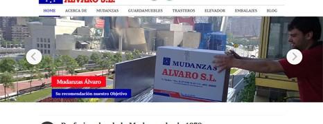 Diseño web de Mudanzas Álvaro – Profesionales de la Mudanza en Bizkaia