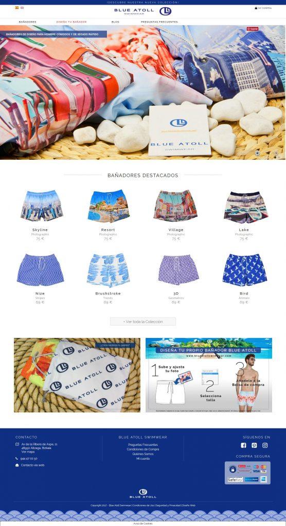 Imagen de la Web de Blue Atoll Swimwear - bañadores de caballero online