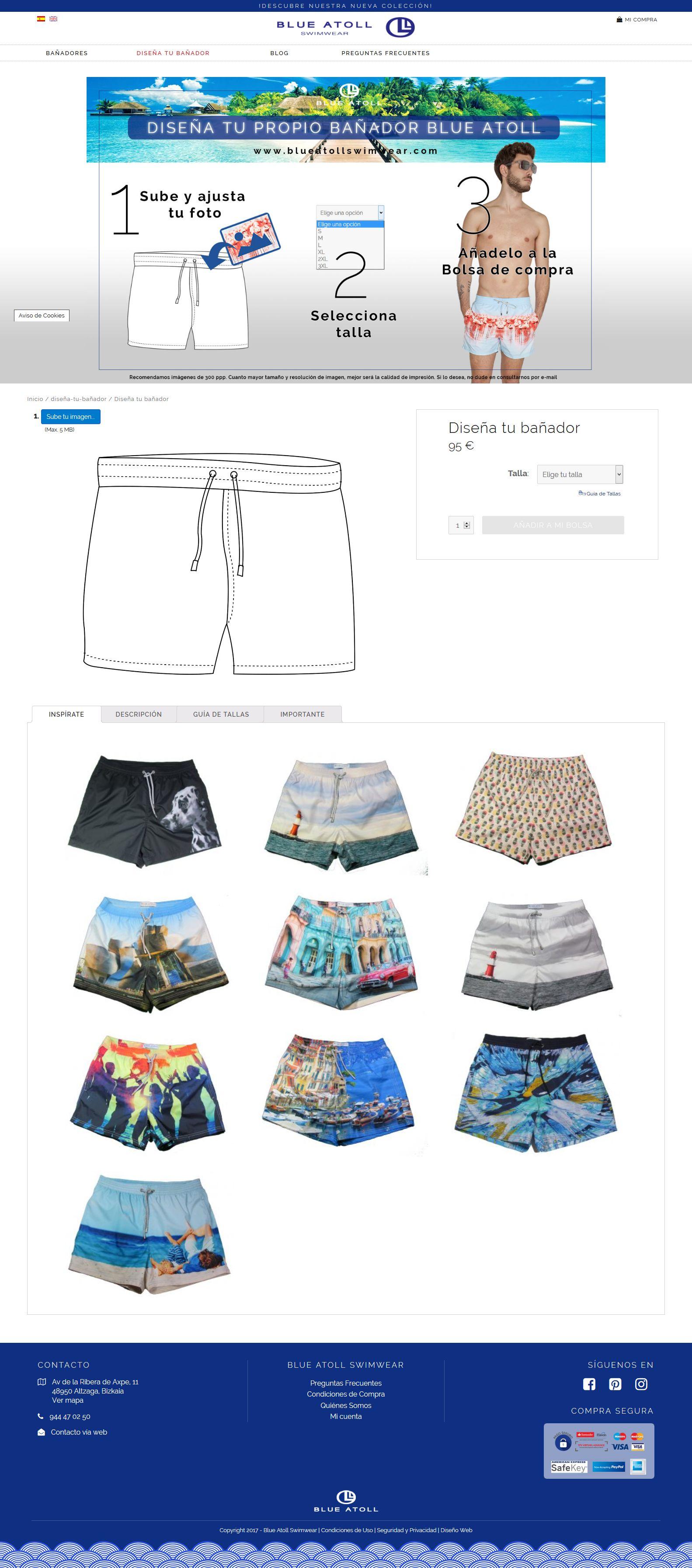 Blue atoll swimmwear tu ba ador online personalizado for Disena tu bano online
